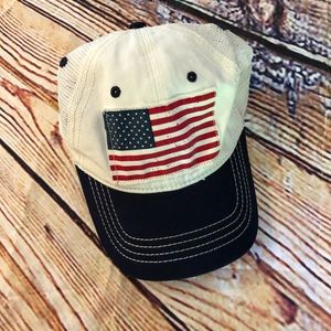 American flag adjustable youth hat